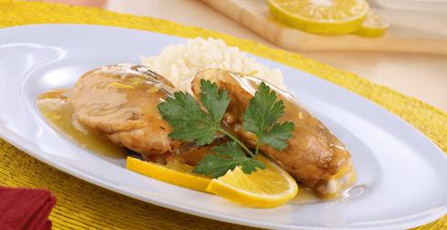 Muslos de pollo en salsa de naranja