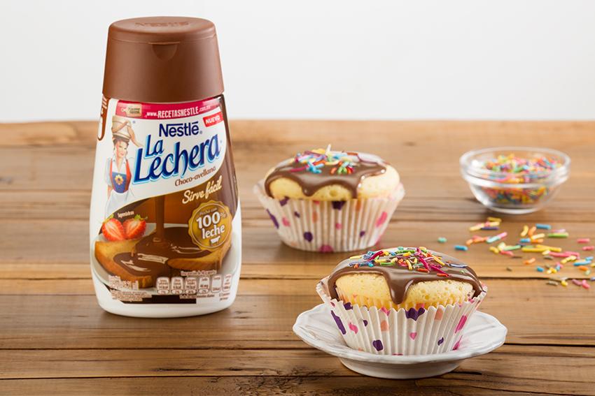 Cupcakes rellenos de choco avellana