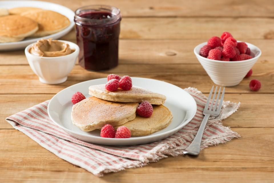 BOOST High Protein PB&J Pancakes