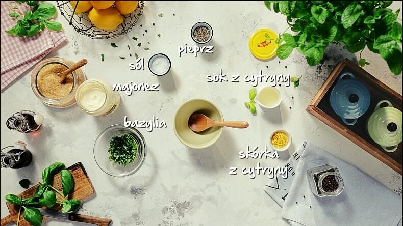 Bazyliowo-cytrynowy majonez