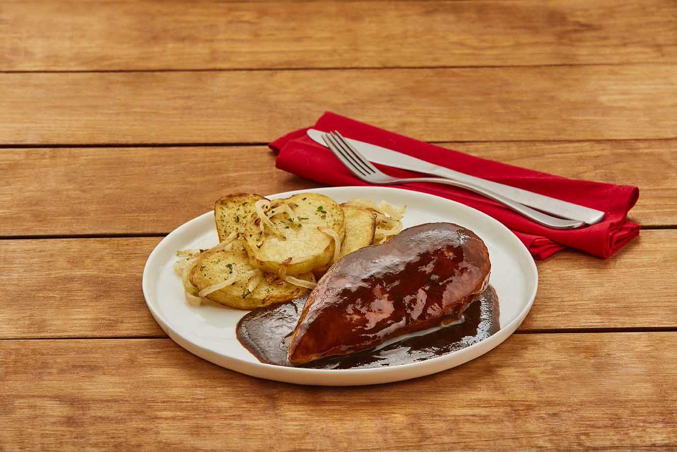 Pechuga de pollo en salsa de tamarindo