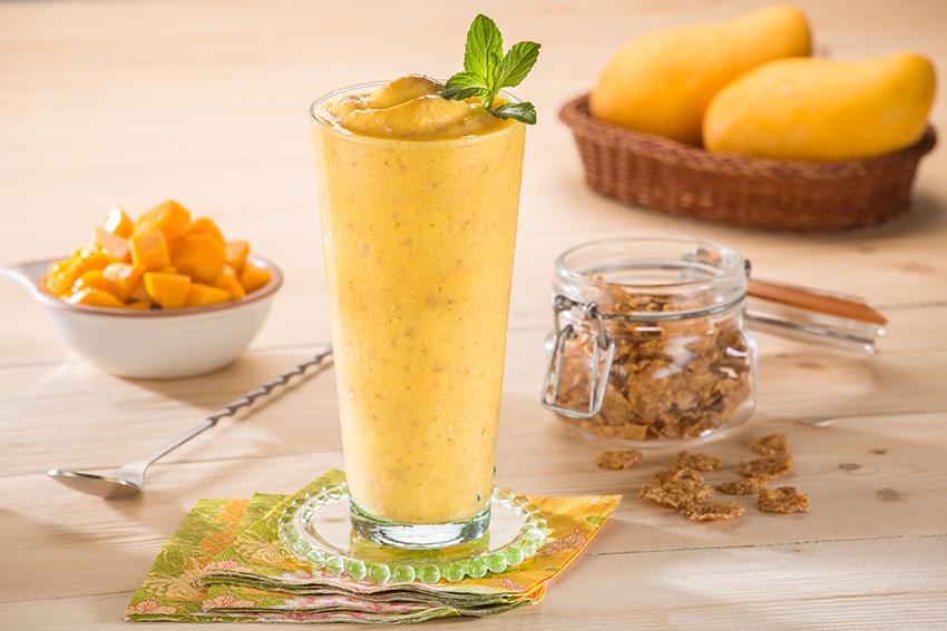 Smoothie de mango ligero
