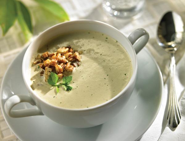Crema de cilantro con nuez