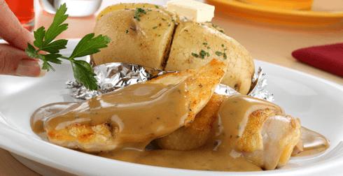 Pollo en mantequilla