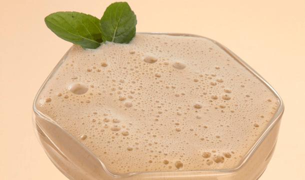 Malteada con dulce de leche