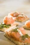 Canapés de salmón ahumado