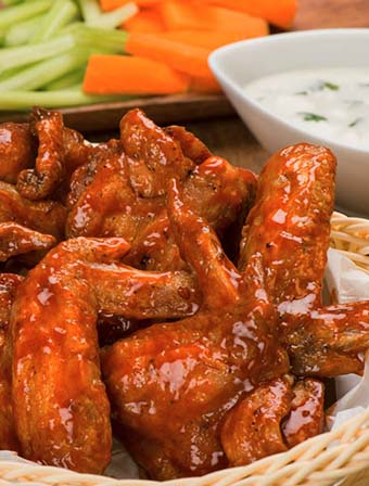 Buffalo Wings with Ranch Dressing