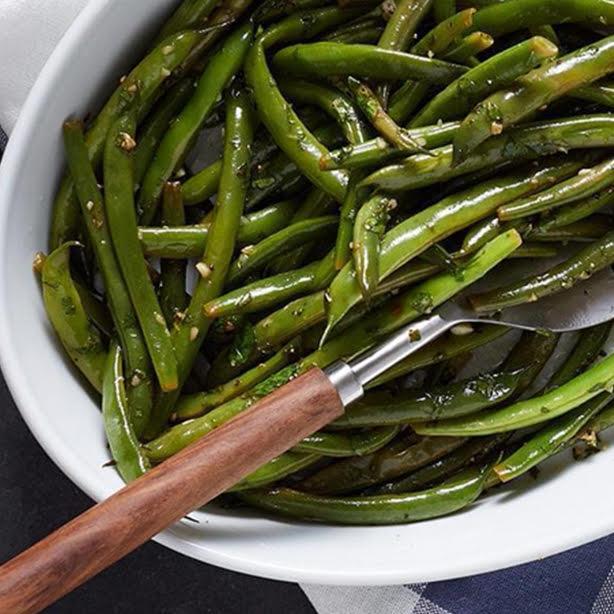 Fresh Green Beans with Lemon Garlic and Parsley
