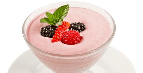 Mousse de frutos rojos