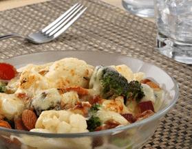 Gratinado de Brócoli y Coliflor