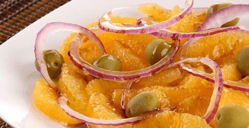 Ensalada de cebolla con naranja