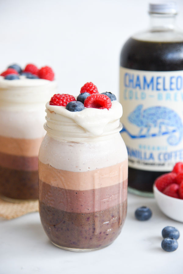 5 Layer Healthy Ombré Cold Brew Coffee Smoothie