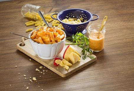Macarrón con queso holandés