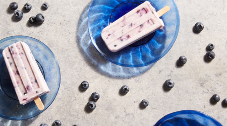 Blueberry Coconut Ice Pops