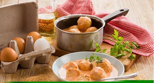 Albóndigas de pollo en salsa de chipotle deslactosada