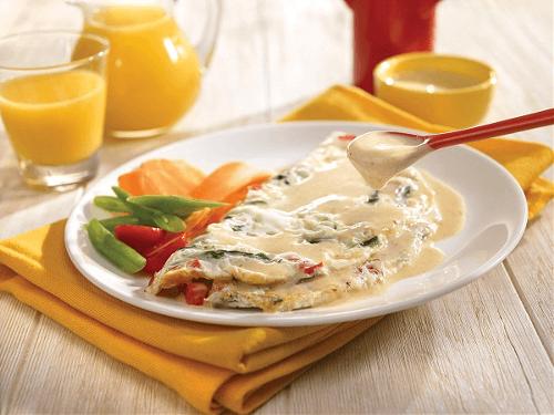 Omelette en microondas