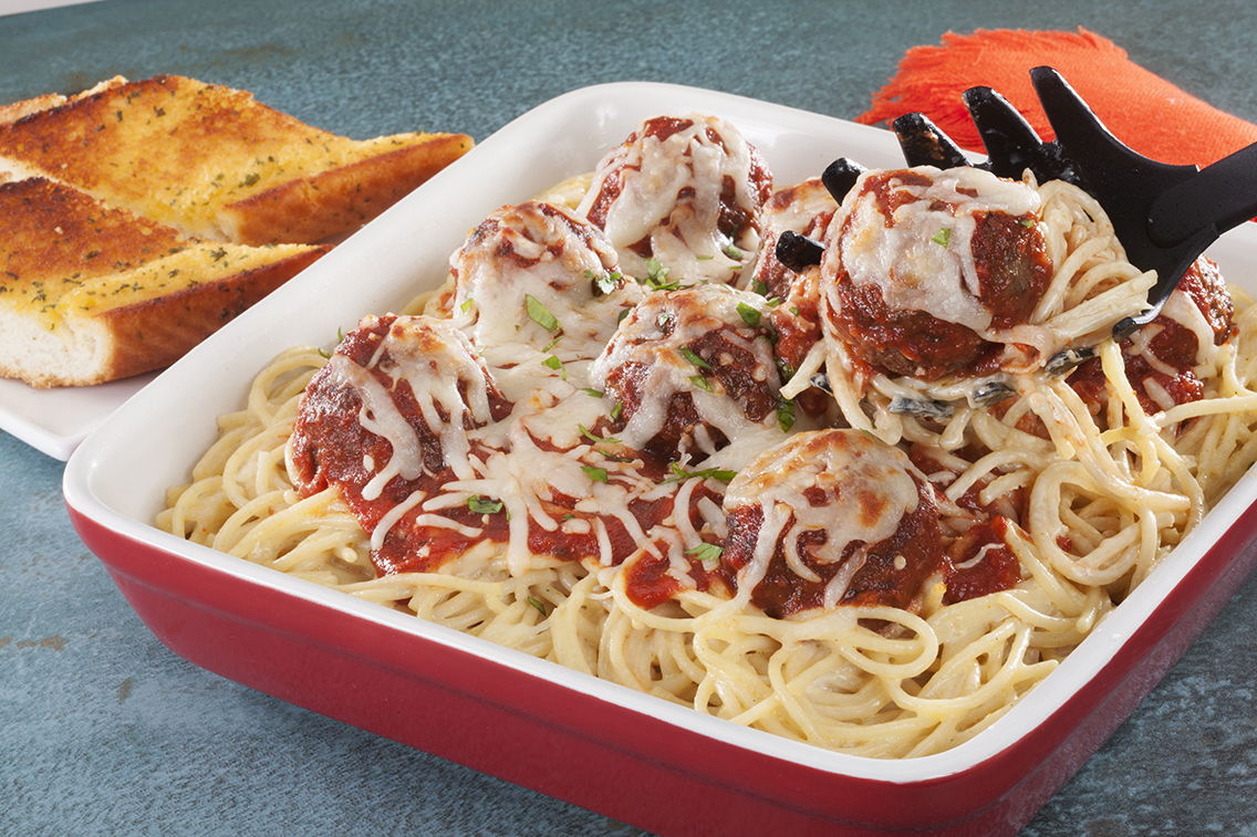 Spaghetti and Meatball Casserole