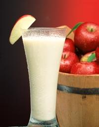 Licuado de manzana y plátano
