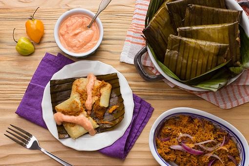 Tamales de cochinita deslactosados