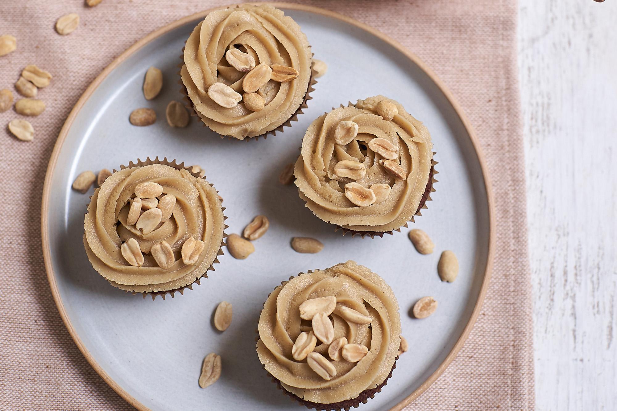 Muffins brownie con manteca de maní