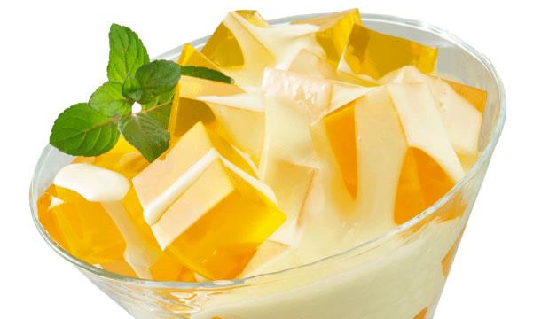 Postre práctico de gelatina