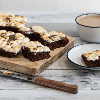 S'mores Mocha Brownies