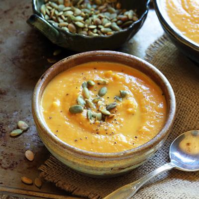 Sopa Cremosa de Especia de Calabaza