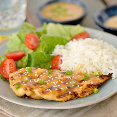 Grilled Chicken with Plum Sauce