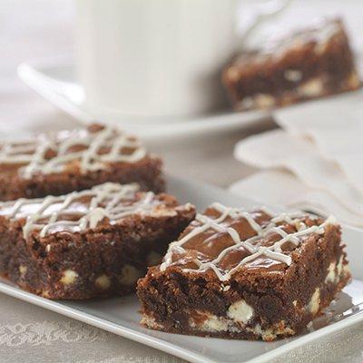 Brownies con Trocitos Blancos