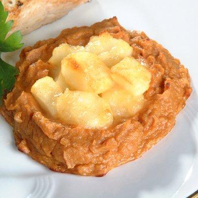 Nidos de Camote Rellenos de Manzana