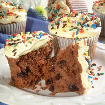 Cupcakes de Chocolate Triple
