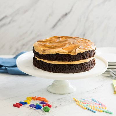 Chocolate Cake with Salted Dulce de Leche Buttercream