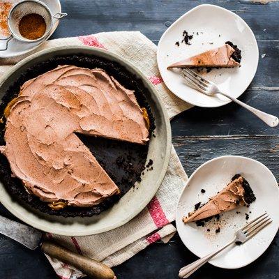Dulce de Leche and Chocolate Tart with Siracha