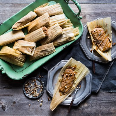 Tamales de Dulce de Leche y Banano