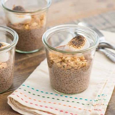 S'mores Overnight Chia Pudding