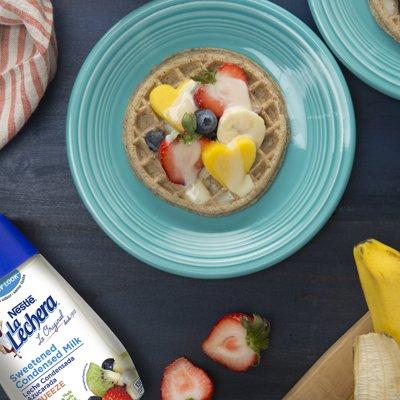 Waffles y Fruta