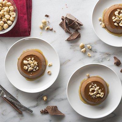 Flanes de Chocolate y Avellanas