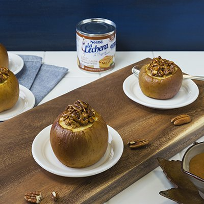 Baked Apples with Oats and Pecans