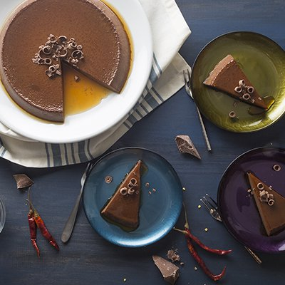 Spicy Chocolate Flan