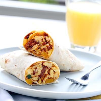 Burritos de Chorizo Para el Desayuno
