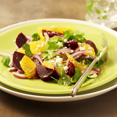 Beet Salad with Oranges and Cheese