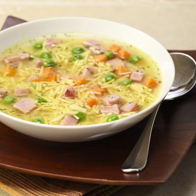 Sopa Rapida y Fácil de Jamón y Verduras