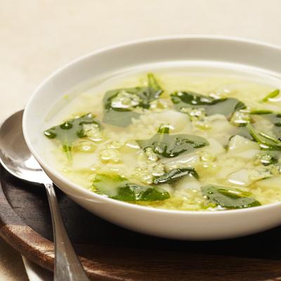 Sopa Rapida y Fácil de Espinacas y Papas