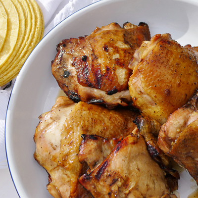 Pollo en Adobo de Naranja Mandarina