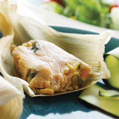 Tamales con Calabacita y Maíz