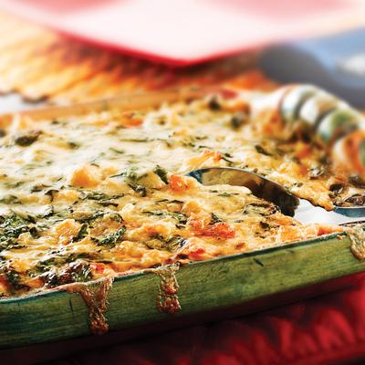 Cauliflower & Spinach Flan