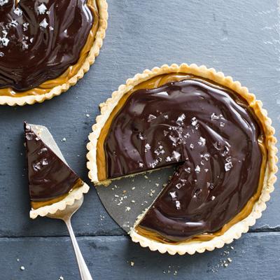 Salted Dulce de Leche Chocolate Tart