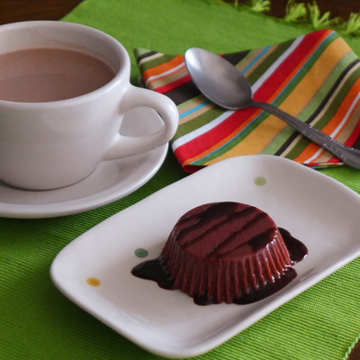 Gelatina de Chocolate y Cereza Negra