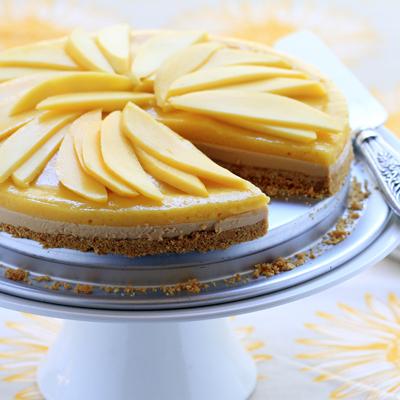 Cheesecake de Mango y Dulce de Leche