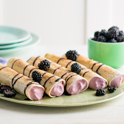 Sweet Cream Blackberry Enchiladas
